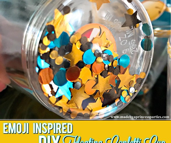 DIY Floating Confetti Sparkle Cup