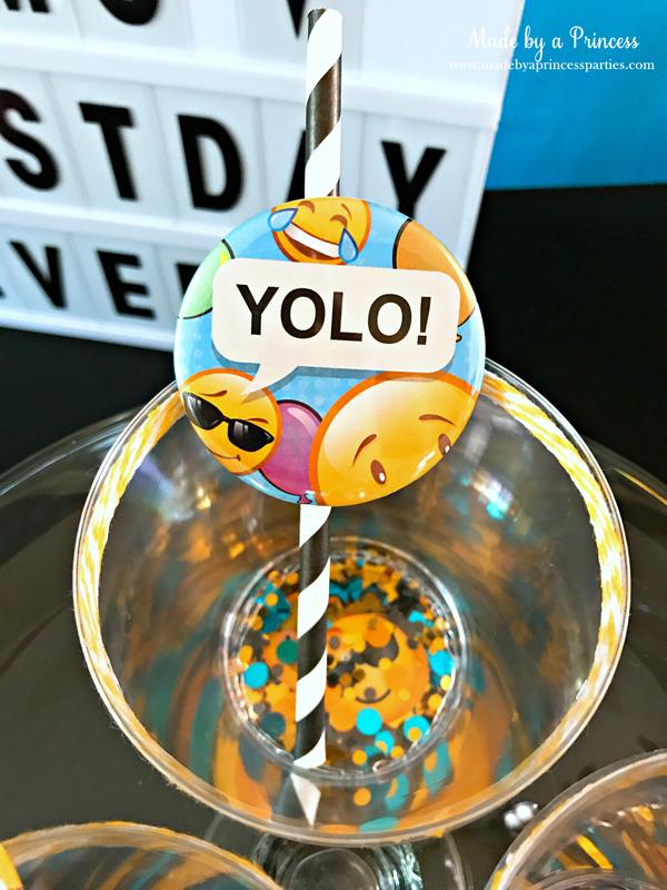 DIY Floating Confetti Sparkle Cup add twine around the rim and fun straw