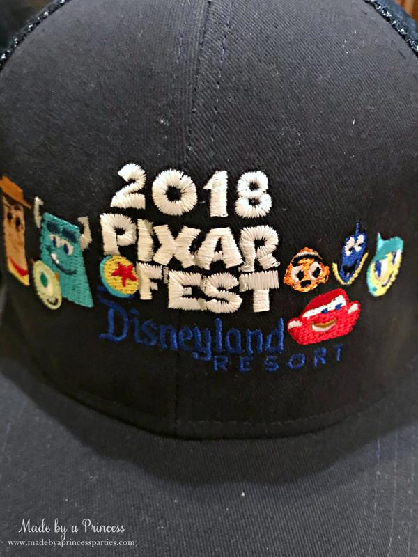 Disneylands Pixar Fest Exclusive Merchandise Baseball Cap #pixarfestmerchandise #disneyhat #pixarfest #madebyaprincess