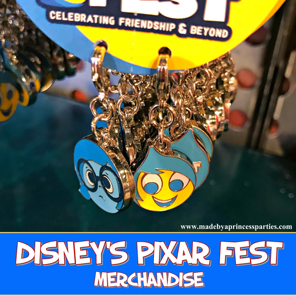 Disneylands Pixar Fest Exclusive Merchandise Inside Out Charms #pixarfestmerchandise #insideoutcharms #pixarfest @madebyaprincess