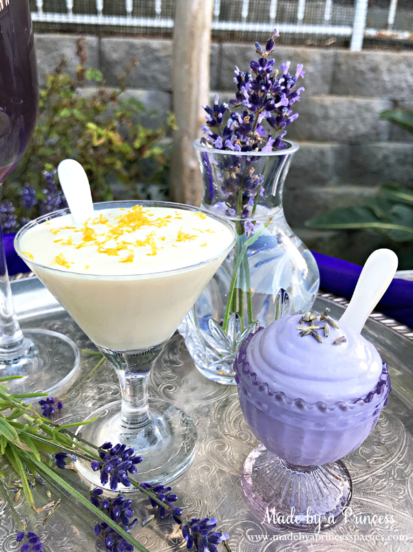 Lavender Mousse and Lemon Elderflower Mousse are light and delicious