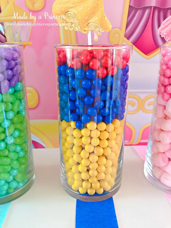 Disney Princess Party Ideas Snow White Candy