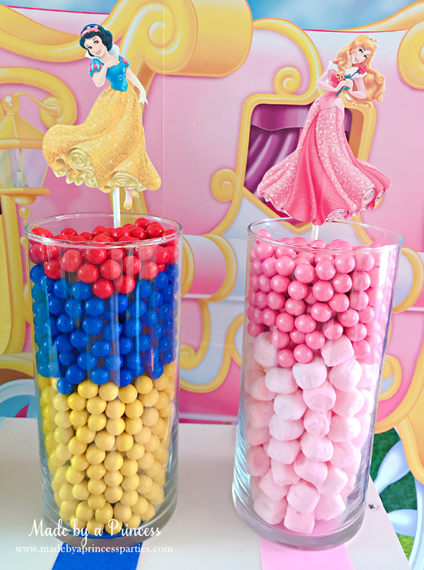 Disney Princess Party Ideas Snow White and Sleeping Beauty Aurora Candy