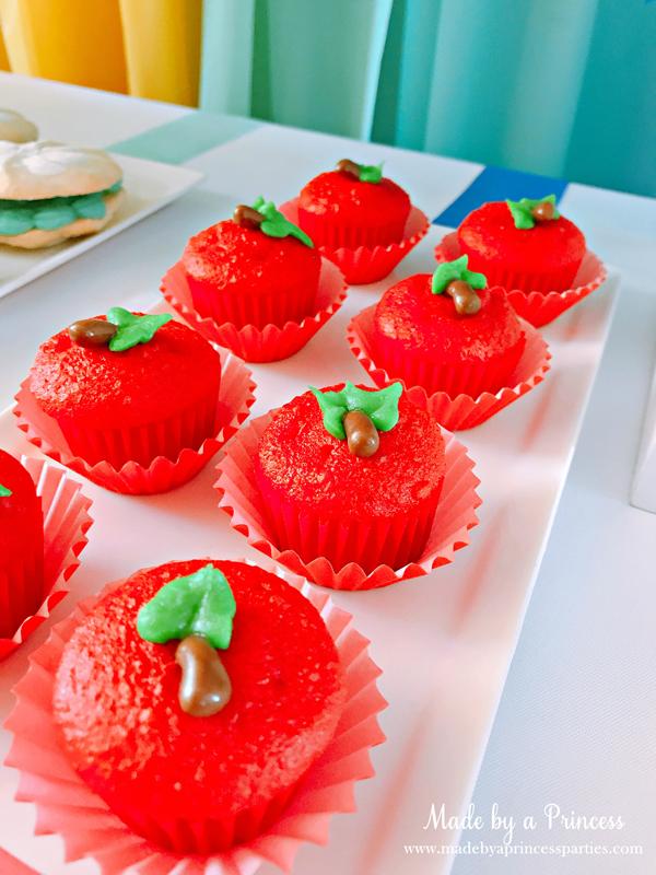 Disney Princess Party Ideas Snow White Poisoned Apple Cupcakes