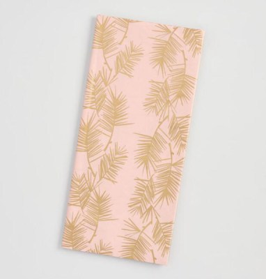 Golden Holiday Entertaining Essentials pink and gold napkins