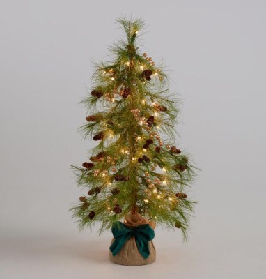 Golden Holiday Entertaining Essentials pre lit faux tree