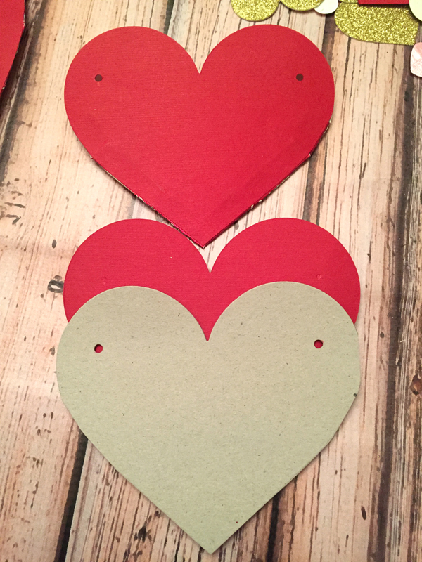 DIY Valentine's Day Countdown Banner with Sizzixheart guide for holes