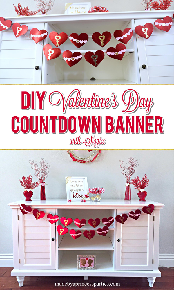 DIY Valentine's Day Countdown Banner with Sizzix