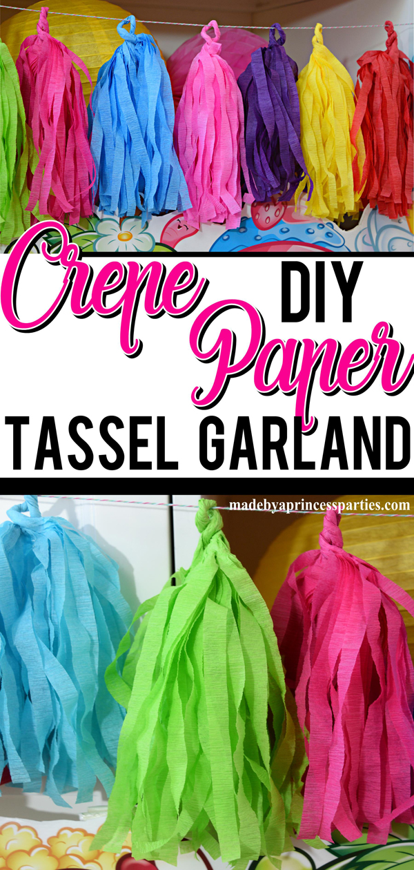 It's easy to make your own tissue paper tassels and even easier to make a tassel garland using crepe paper streamers. Get ready to get creative!