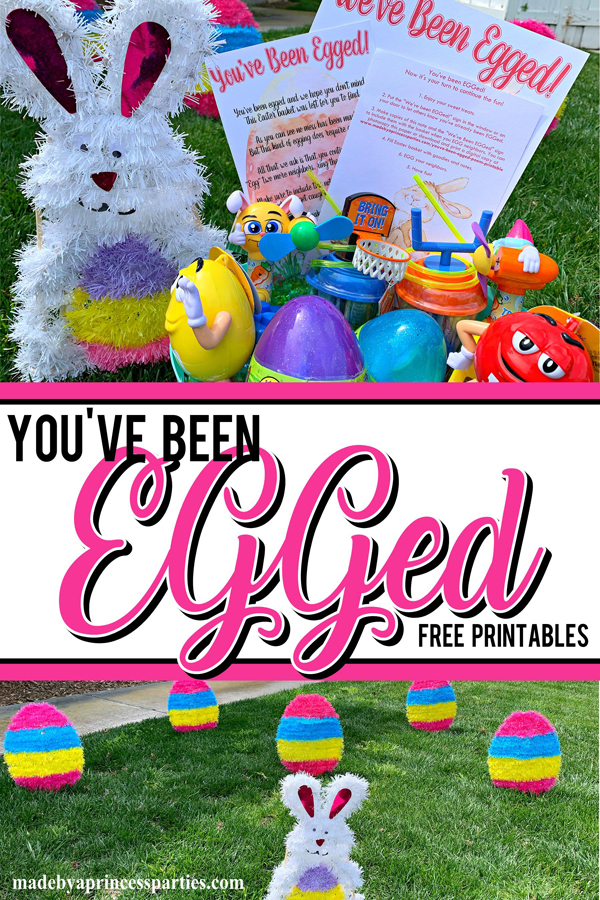 You've Been Egged Poem Printable Easter Activity place eggs and a bunny in your neighbors yard to let them know theyve been EGGed