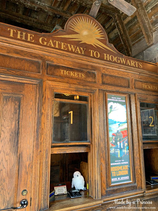 Buy a ticket to Hogwarts at the train station