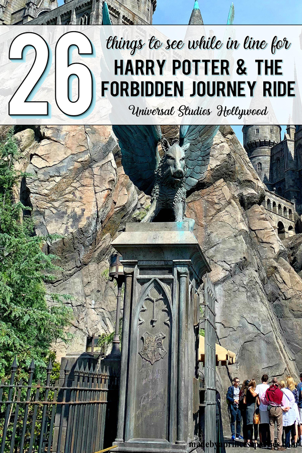 Go on a hunt for all the amazing details to be found while in line for Harry Potter and the Forbidden Journey