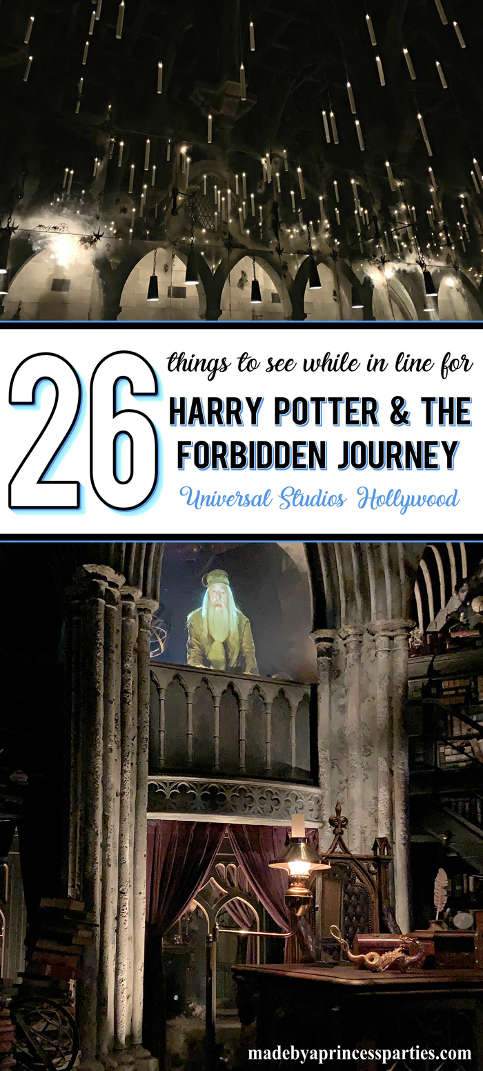 There is so much to see while waiting in line for Harry Potter Forbidden Journey. It is so much more than a ride