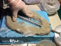 DIY Concrete Faux Geode Lamp - Made By Barb