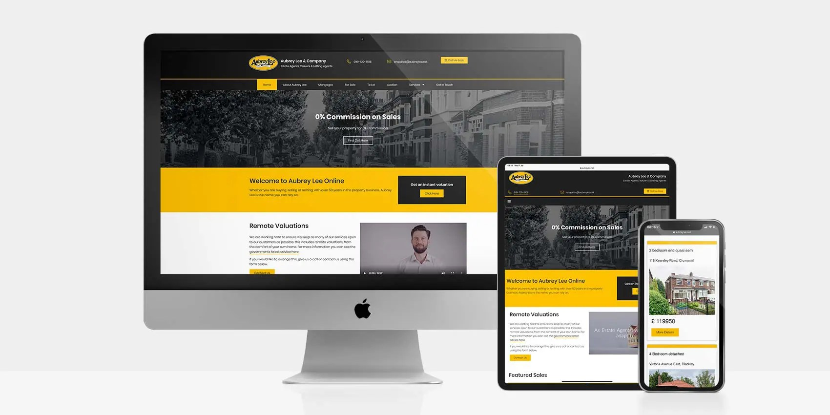 WordPress Website For Aubrey Lee & Company: By Factory, PPC Agency In Manchester