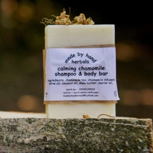 Chamomile shampoo & body bar | natural | herbal | hedgerow | handcrafted
