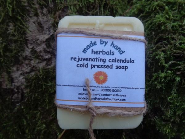 Rejuvenating calendula soap | natural | herbal | hedgerow | handcrafted