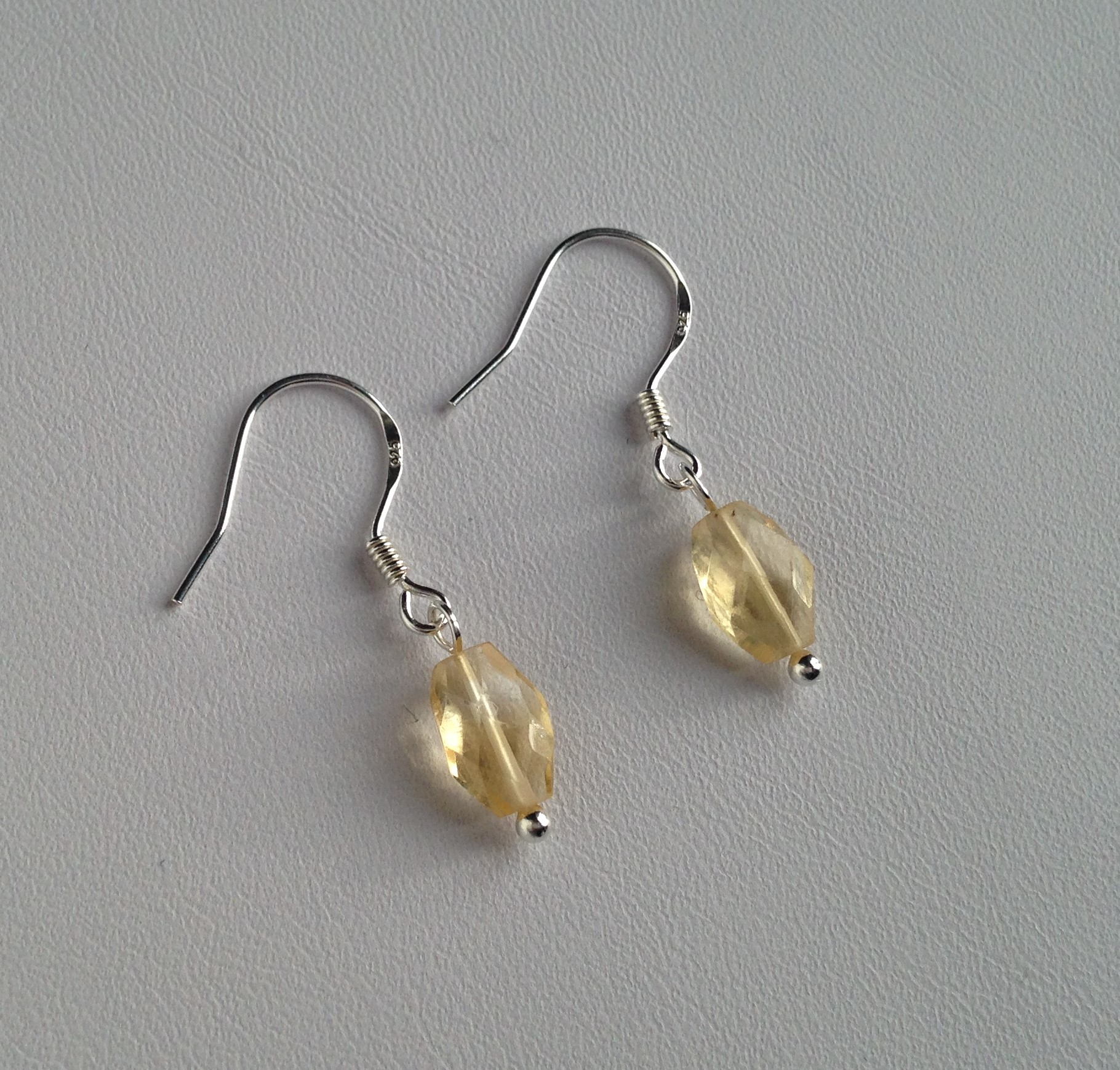 Pretty faceted citrine earrings
