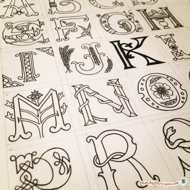 Illuminated Lettering Made By Marzipan