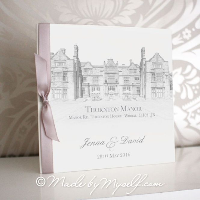 Thornton Manor Pocketfold Wedding Invitation Includes Rsvp Guest Information