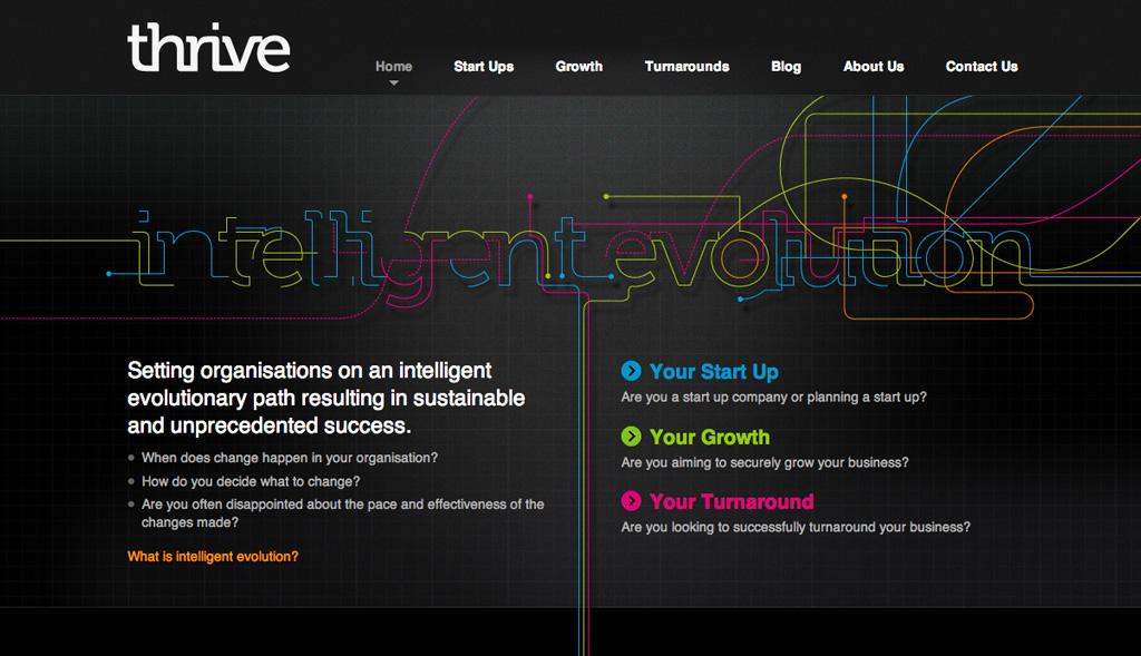 Website design for Thrive  Oli Pyle