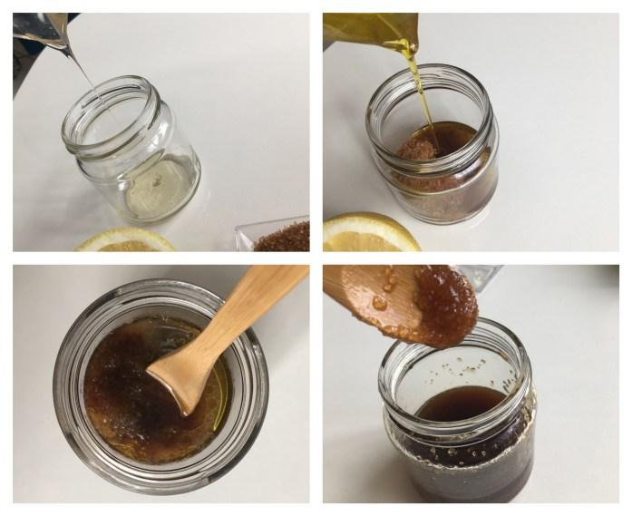 pas à pas recette gommage maison au miel 100% naturel
