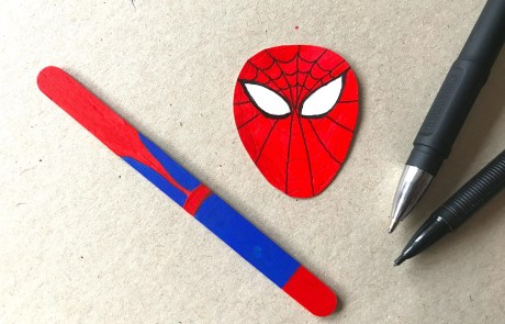 superhero bookmark spiderman