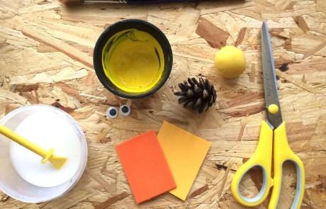 pine cone Easter chick idea