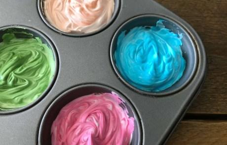 shaving foam paint diy