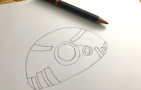 easy diy bb8 sketch