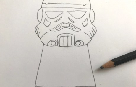 cool star wars stormtrooper sketch