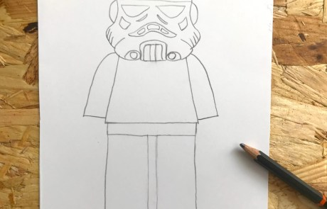 how to draw a lego stormtrooper