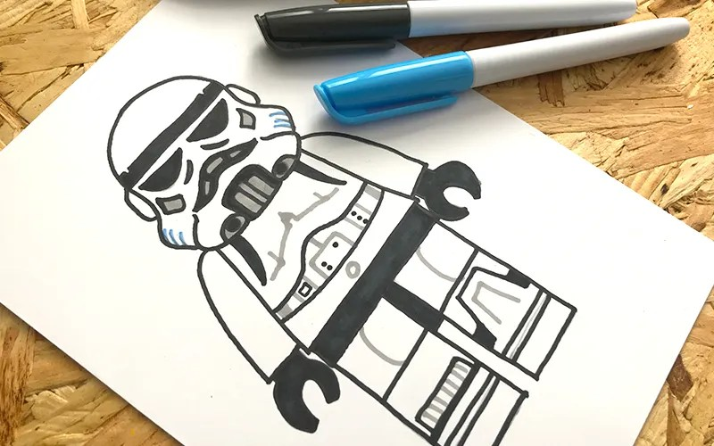 cool stormtrooper sketch