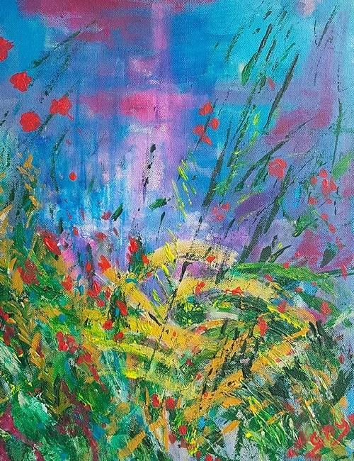 Abstract painting Caversham Reading Berkshire