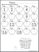 Fall Math & Literacy Unit for Kindergarten