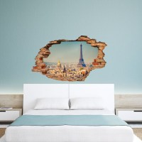 Wall decal 3D effect Paris cheap - Stickers 3D discount ...