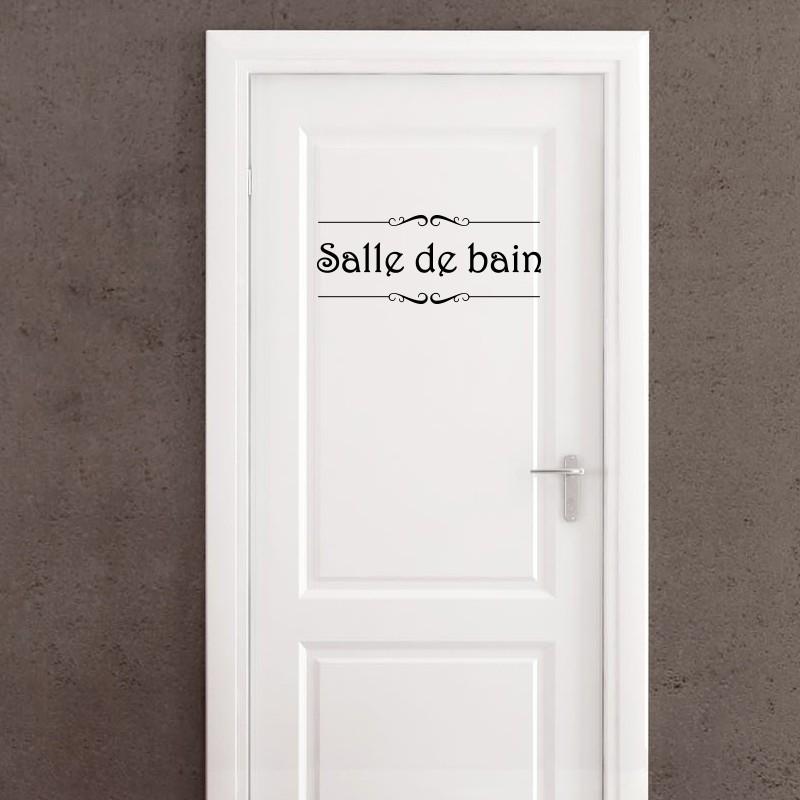 Sticker porte Salle de bain et Toilettes pas cher  Stickers Citations discount  stickers