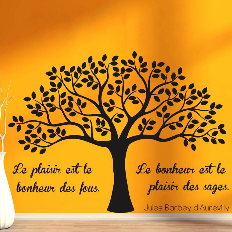 Sticker Le Plaisir Et Le Bonheur Pas Cher Stickers