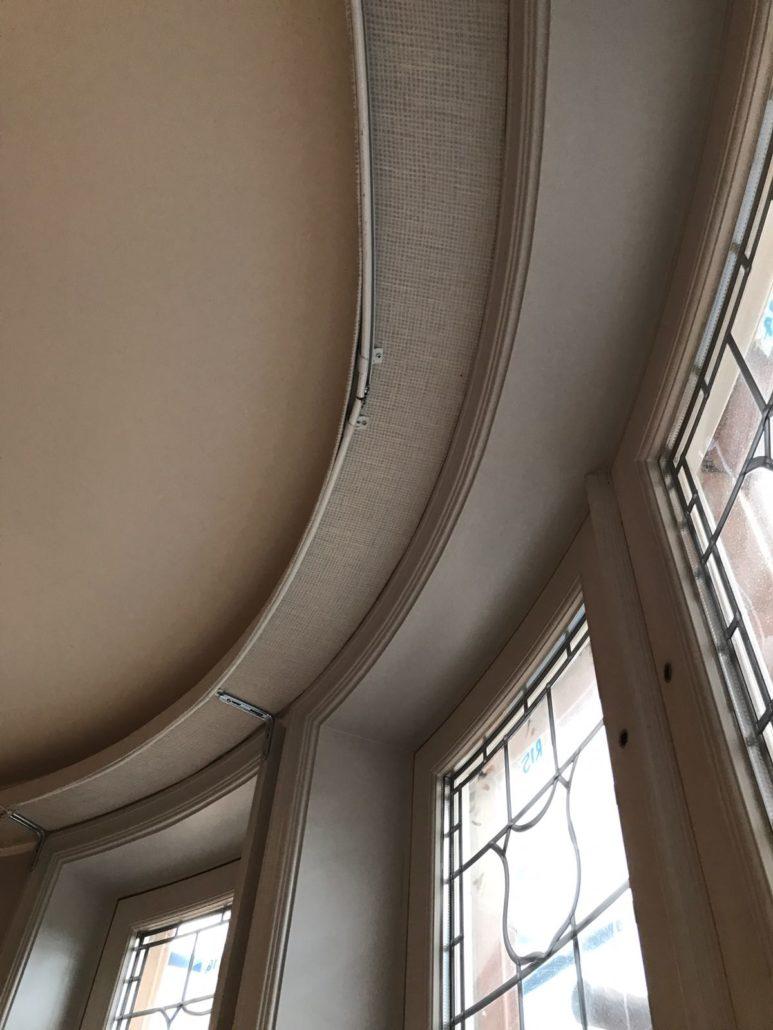 Bay Window Curtain Tracks Made Curtains London Curtain Ideas