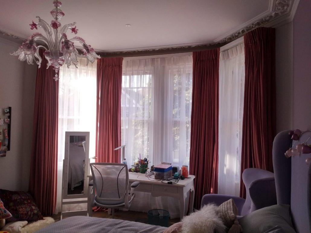 Bay Window Curtains  Made Curtains London  Curtain Ideas