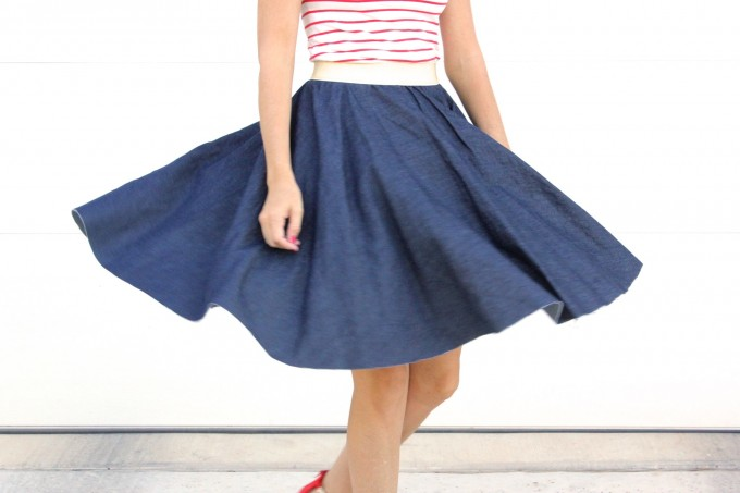 simple circle skirt