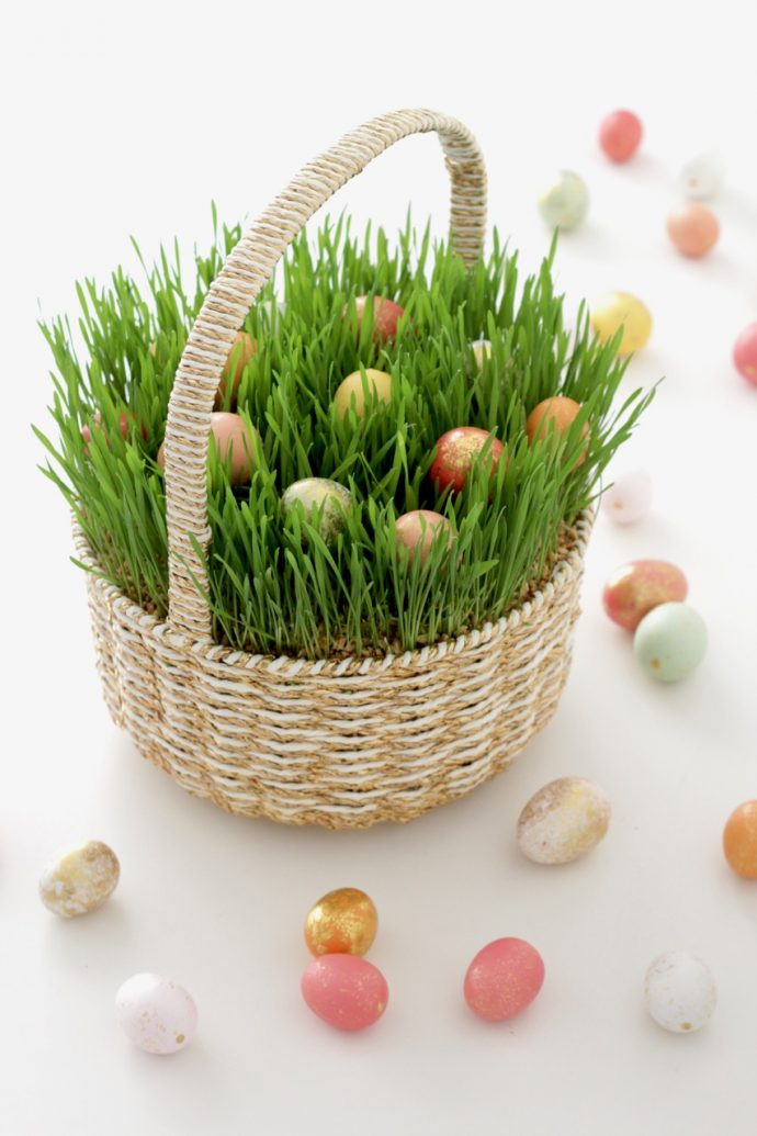 Easter Grass in a Basket  MADE EVERYDAY