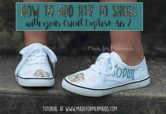 How to add HTV to shoes- Sew with Cricut Blog Tour