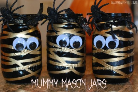 Mummy Mason Jars {Made from Pinterest}