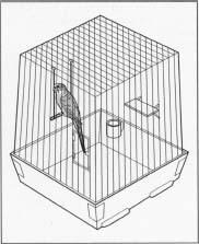 A standard bird cage.