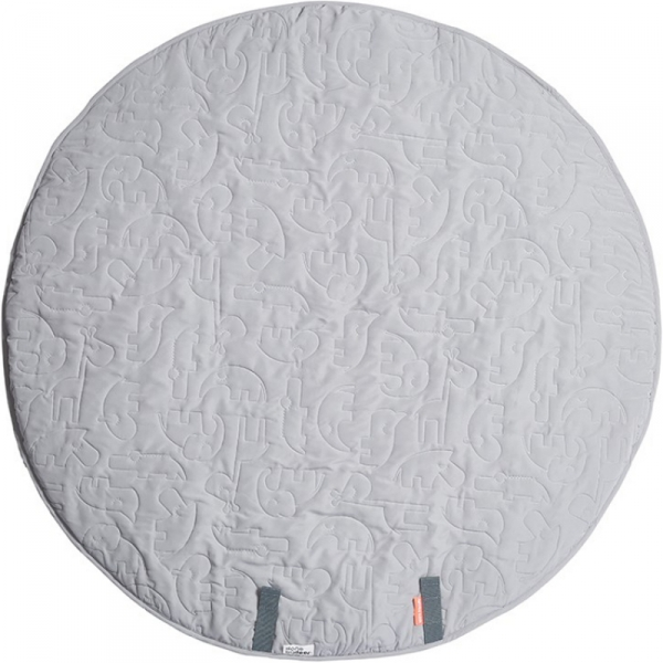 tapis d eveil sleepy friends 90 cm gris