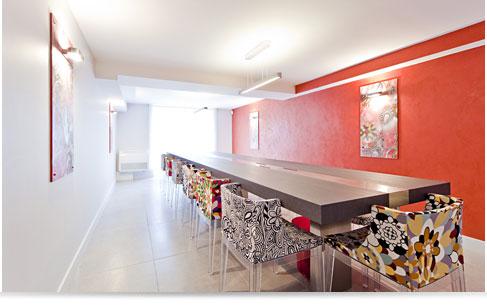 Nos ralisations  Salle de runion et espace repasdtente  Made in Design Pro  Made In Design