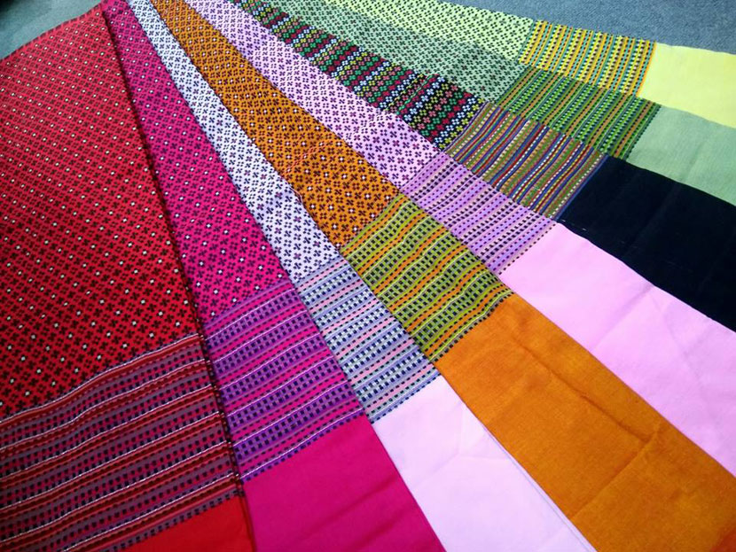 Chin and Myanma Traditional Fabric  Made in Myanmar