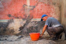 Pompei Regio V fonte PaP Parete incendiata Casa di Giove