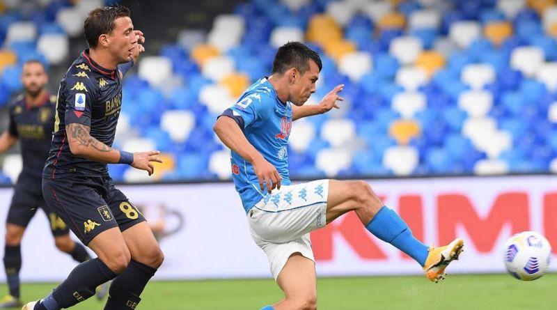 Napoli a valanga sul Genoa: al San Paolo termina 6-0, con doppietta di Lozano